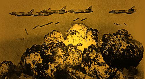 hunters bombing 71Psc 16298