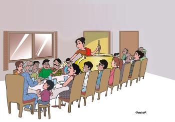 indian family cartoon image traffic club