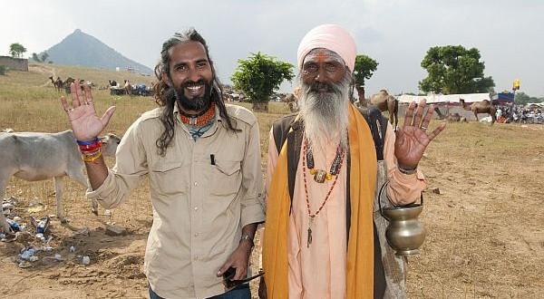 baba with devotee